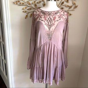 FP▪️Panama City Mini Dress. Mauve. S